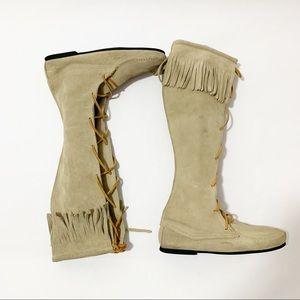 Minnetonka Tall Fringe Boots
